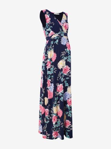 Floral Print Maternity Maxi Dress