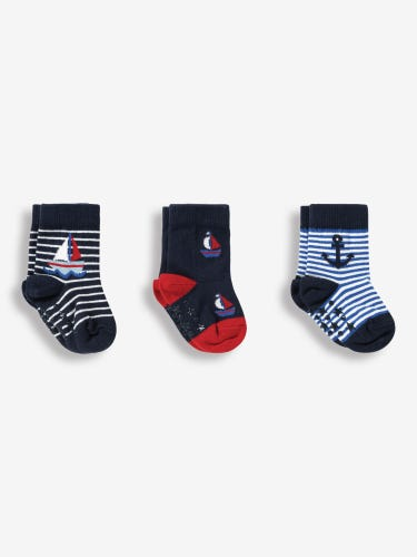 3-Pack Nautical Socks