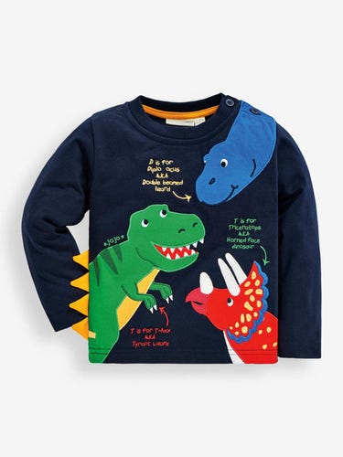 Kids' Navy Dinosaurs Top