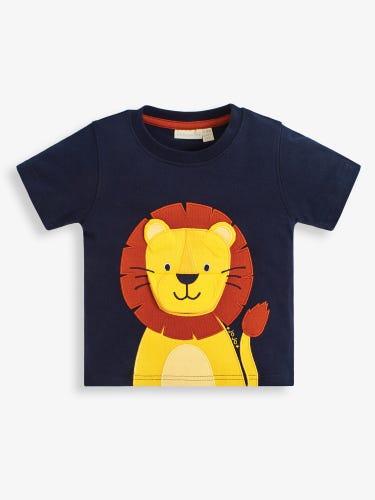 Kids' Lion Appliqué Interactive T-Shirt