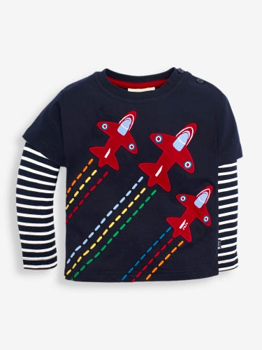 Kids' Navy Red Arrows Top