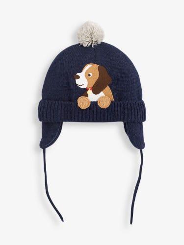Navy Dog Appliqué Hat
