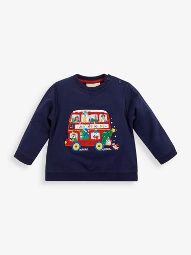 Navy Christmas Bus Sweatshirt