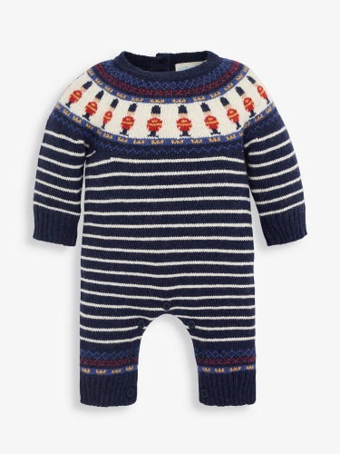 London Guard Knitted Baby All-In-One