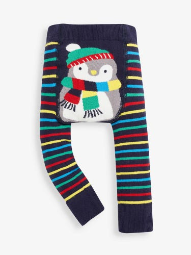 Navy Penguin Extra Thick Baby Leggings