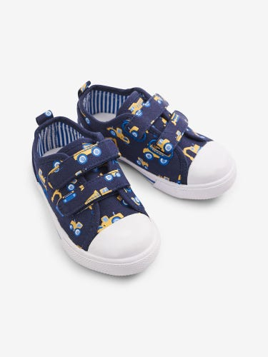 Navy Digger Print Canvas Pumps