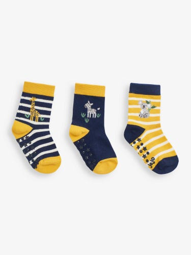 3-Pack Safari Stripe Socks