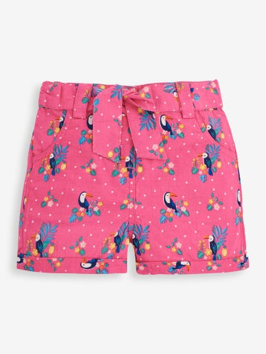 Girls' Orchid Toucan Print Shorts