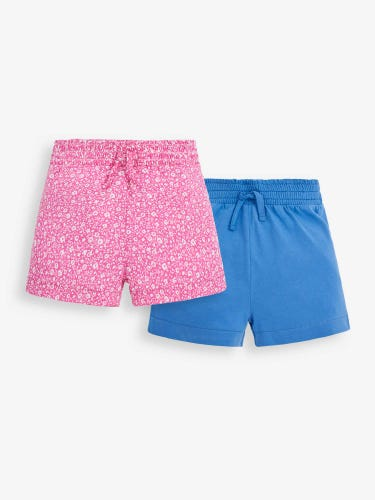 2-Pack Girls' Pretty Floral Shorts