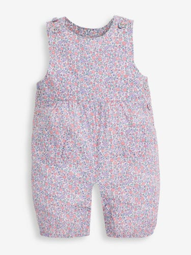 Pastel Ditsy Print Baby Dungarees