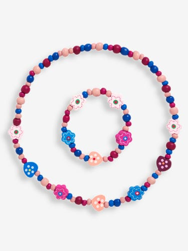 Kids' Pink Necklace Set