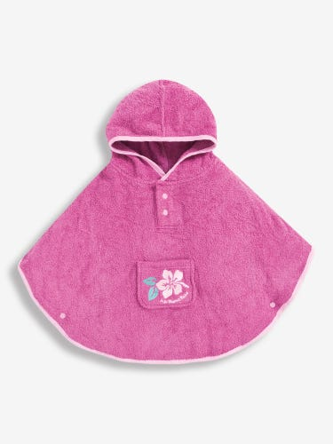 Embroidered Towelling Poncho