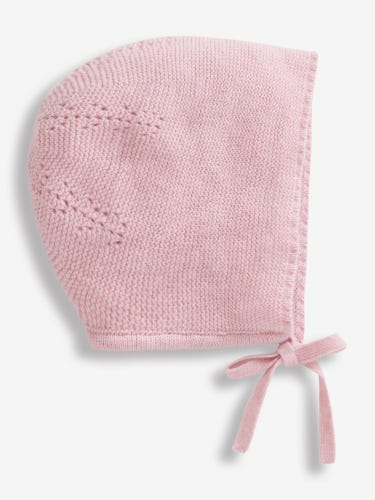 Cashmere Mix Knitted Baby Bonnet