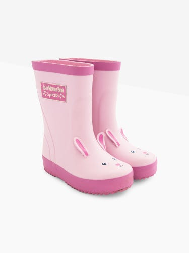 Pink Bunny Wellies