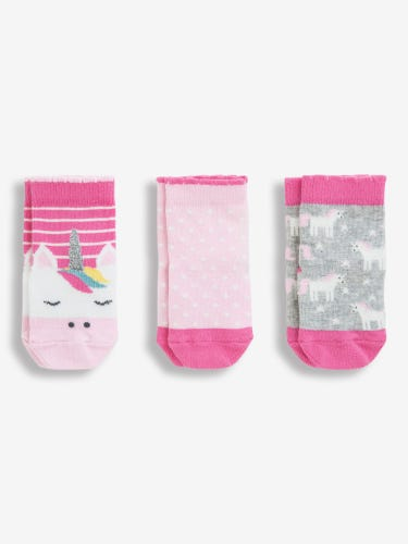 3-Pack Unicorn Socks