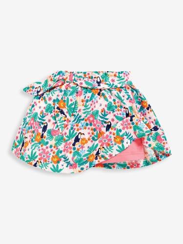 Girls' Pretty Pink Toucan Print Skort