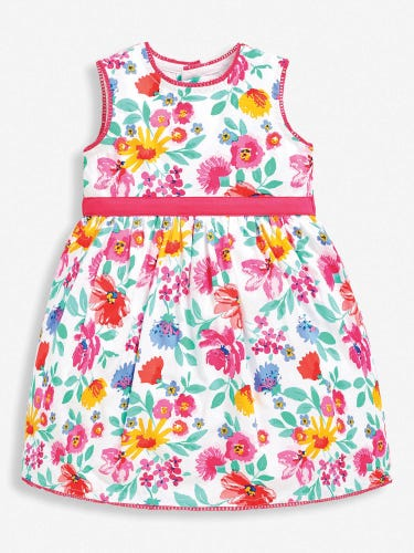 Girls' Pink Floral Party Dress