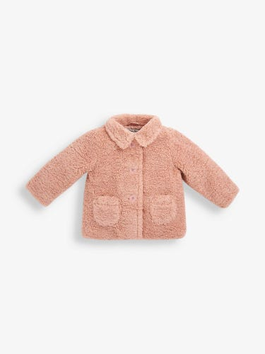 Kids' Pink Teddy Jacket
