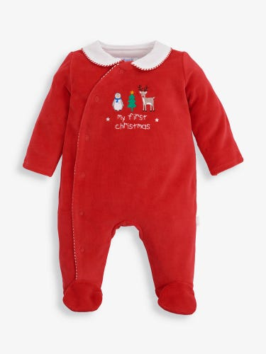 My First Christmas Baby Sleepsuit