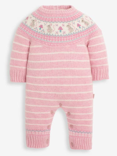 Pink Mouse Fair Isle All-In-One