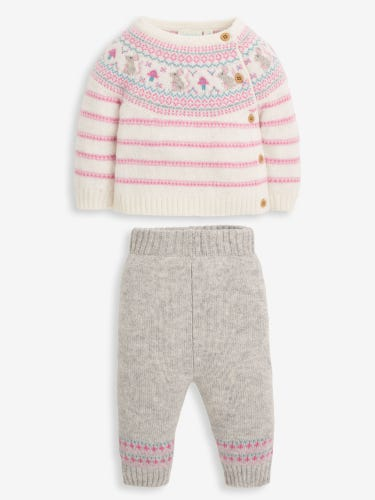 2-Piece Pink Mouse Baby Top & Trousers Set
