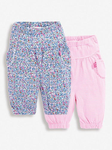 2-Pack Summer Ditsy Baby Trousers