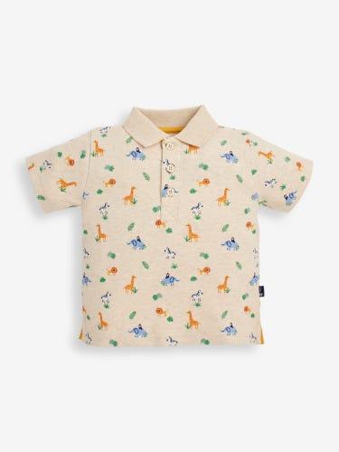 Stone Safari Print Polo Shirt