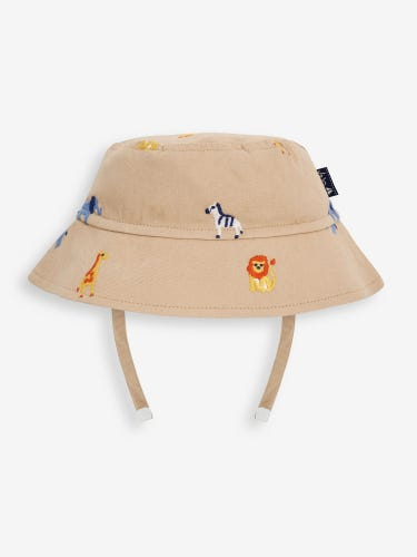 Safari Friends Embroidered Bucket Hat