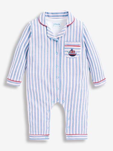 Striped Jersey All-In-One Pyjamas