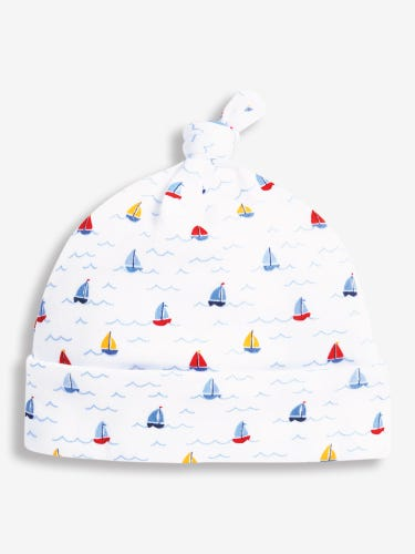 Nautical Print Baby Hat