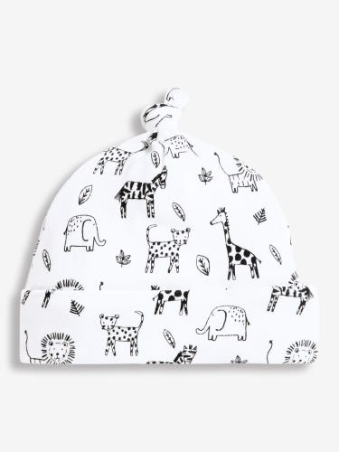 Black & White Safari Baby Hat