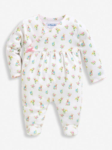 Pretty Floral Baby Sleepsuit