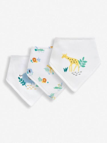 3-Pack Safari Dribble Bibs