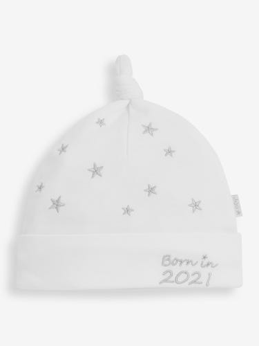 Born in 2021 Embroidered Baby Hat