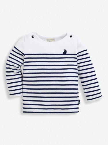 Kids' Long Sleeved Breton Top