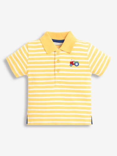 Boys' Yellow Tractor Polo Shirt